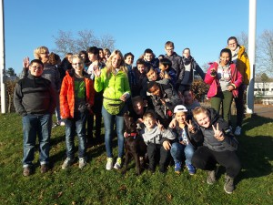 Gesamtschule-Niederpleis--Schulhund-Paul